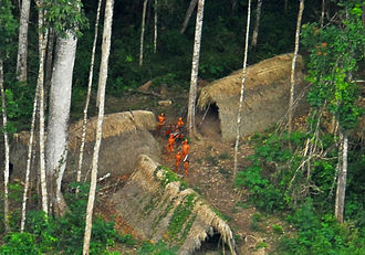 Deforestation of the Amazon rainforest - Members of an uncontacted tribe encountered in the Brazilian state of Acre in 2009