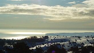 Coastline of Djursland - Hills lead down to bays on Djursland's southern coastline