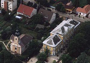 Újfehértó - Image: Újfehértó légifotó3