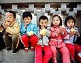 Čínské děti, 1987, foto Jiří Tondl.jpg