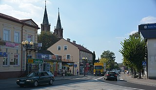 Łosice Place in Masovian Voivodeship, Poland