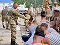 Курсанти факультету Військово-Морських Сил провели змагання з курсантами Військової академії міста Одеса (27536893510).jpg