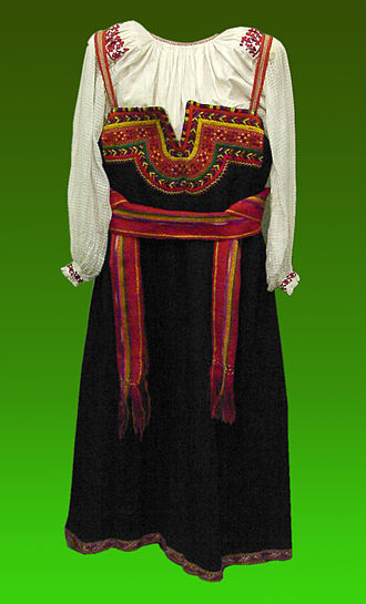 Sarafan - A simple black sarafan from Belgorod Oblast