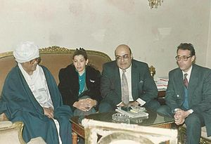 Islam and blasphemy - Farag Foda, second from the right