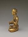 遼 青銅鎏金五髻文殊菩薩像-Manjushri, Bodhisattva of Wisdom, with Five Knots of Hair (Wuji Wenshu) MET DP170209.jpg