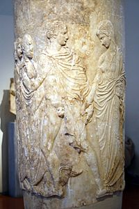 0407 - Archaeological Museum, Athens - Funerary lekythos of Myrrhine - Photo by Giovanni Dall'Orto, Nov 10 2009.jpg