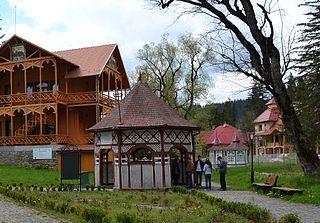 Borsec Town in Harghita, Romania