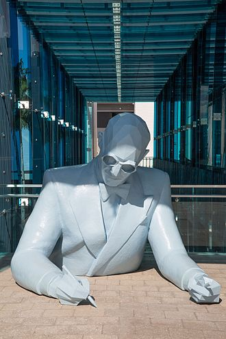 "Miami Design District - Art installation of ""Le Corbusier"" by Xavier Veilhan in the Miami Design District"