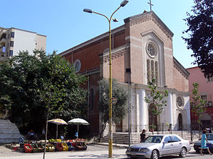 Christianity in Albania - One of Tirana's Catholic churches.