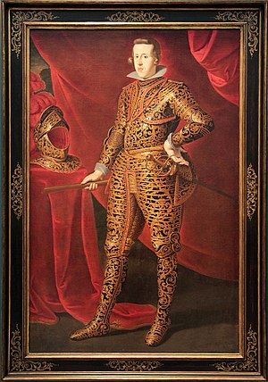 Philip IV of Spain - Painting of Philip IV of Spain in armor (1627–28) by Gaspar de Crayer of the Metropolitan Museum of Art