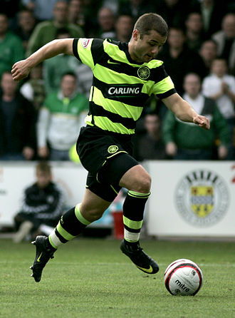Shaun Maloney - Maloney playing for Celtic in 2009