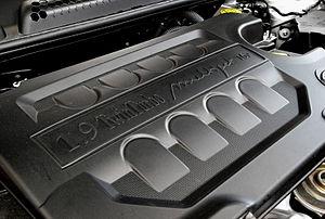 JTD engine - Engine cover of Lancia Delta´s 1.9 TT Multijet.