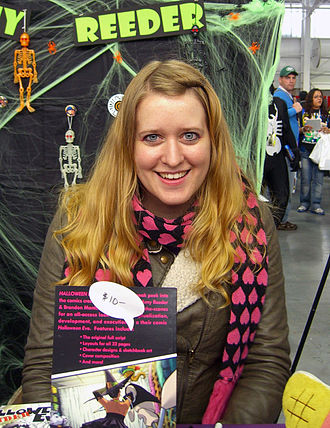 Amy Reeder - Reeder at the 2012 New York Comic Con.