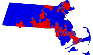 Massachusetts House of Representatives - Composition by municipality in the 188th General Court.