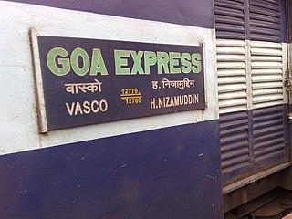 Goa Express Express train running from Goa to New Delhi