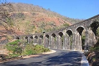 Kollam–Sengottai branch line - View of 13 Kannara Bridge