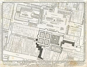 Henrietta Street, Covent Garden - Henrietta Street on a 1690 map, before Southampton Street was built