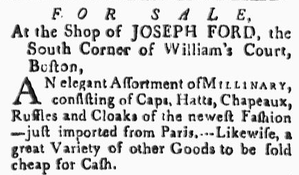 Independent Chronicle - Image: 1782 Joseph Ford Boston Independent Chronicle Universal Advertiser Feb 21
