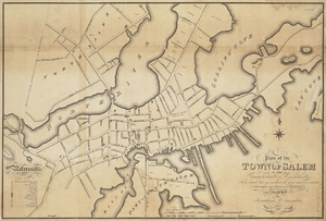 Hamilton Hall (Salem, Massachusetts) - Image: 1820 Salem Massachusetts map by Saunders BPL 12094