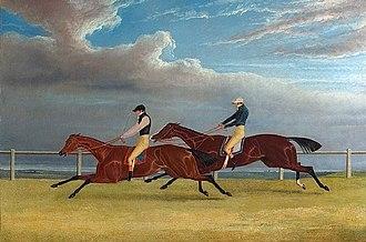 Matilda (horse) - Matilda beats Mameluke in the 1827 St Leger