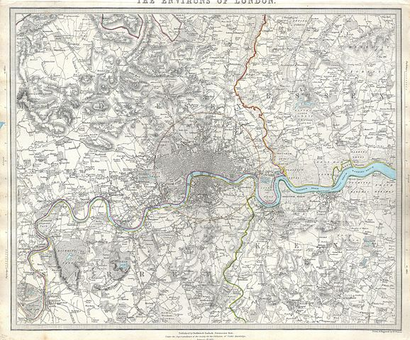 1832 S.D.U.K. Map of London and Environs, England - Geographicus - LondonEnvirons-SDUK-1832.jpg