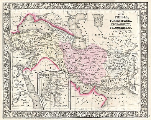 1866 Mitchell Map of Persia, Turkey and Afghanistan (Iran, Iraq) - Geographicus - PersiaAfghanistan-mitchell-1866