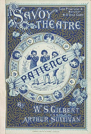 Savoy opera - 1881 Programme for Patience