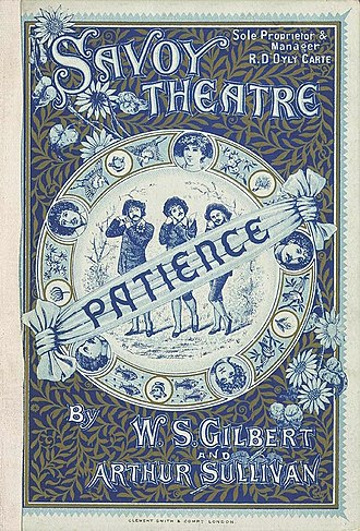 Savoy Theatre - 1881 Programme for Patience