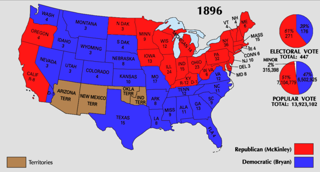 United States Presidential Election Wikipedia - Us election history map