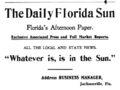 1905 Daily Florida Sun newspaper advert Jacksonville Florida.png