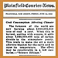 19120614 Coal consumption affecting climate - Plainfield Courier News - global warming.jpg