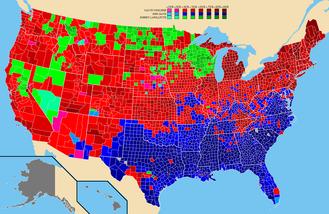 Progressive Party (United States, 1924–34) - Image: 1924prescountymap