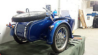 1938 BMW motorcycle with side car (15373173746).jpg