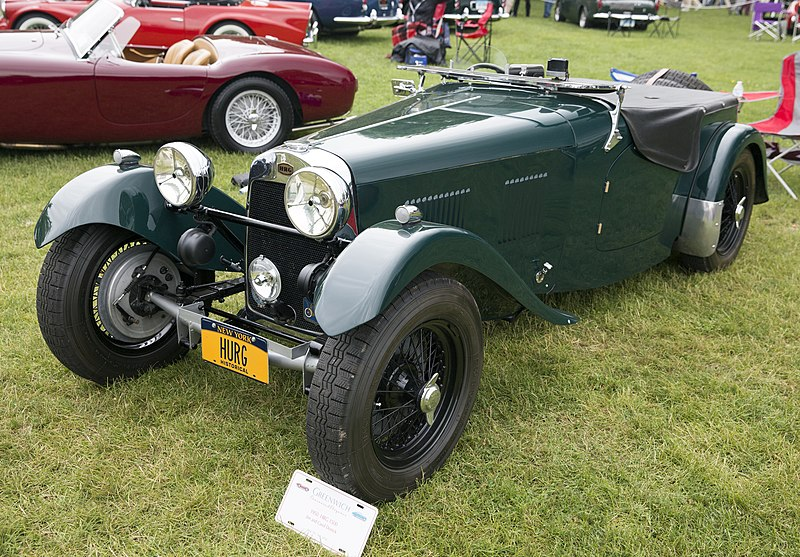 File:1950 HRG 1500 Roadster at Greenwich 2018, front left.jpg