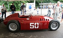 Photographie d'une Lancia D50A de 1954 à Goodwood en 2007