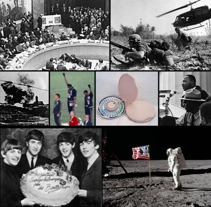 Montage wichtiger Ereignisse der 1960er