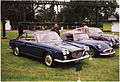 1963 Lancia Flavia 1.8 Coupe (Pininfarina), Daimler SP250 & Jaguar Mk.2 Saloon (15931786423).jpg