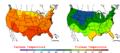 2005-09-02 Color Max-min Temperature Map NOAA.png