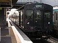 2007-08-26 JR- Yakujin Station,Kakogawa Line JNR103系改造車両 横尾忠則「走れ!Y字路」 8260239.JPG