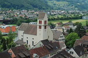 Sargans - Village church in Sargans