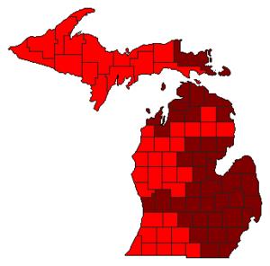 Michigan Republican primary, 2008 - Image: 2008Rep Primary MI