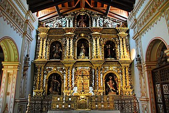 Santa Cruz Department (Bolivia) - Altar in the church of San Rafael de Velasco, Santa Cruz.