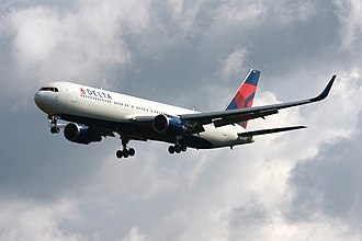 Airline - Boeing 767-300ER of Delta Air Lines at Frankfurt Airport