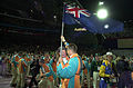 201000 - Opening Ceremony swimmer Brendan Burkett parades 3 - 3b - 2000 Sydney opening ceremony photo.jpg