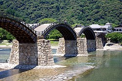 Kintai Bridge, famous for sightseeing spot in Iwakuni