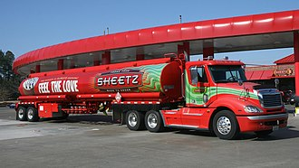 Sheetz - A Sheetz tanker truck ready to refill the fuel tanks