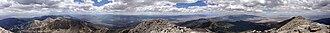 Wheeler Peak (Nevada) - Image: 2013 07 14 15 03 57 Panorama from the summit register on Wheeler Peak