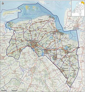 Groningen (province) - Map of Groningen (2013)