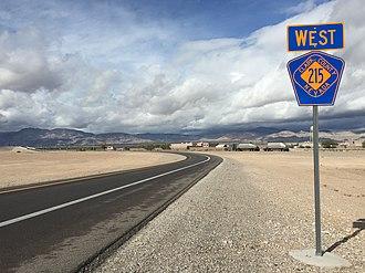 Las Vegas Beltway - Northeastern beginning of CC 215