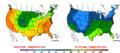 2016-04-20 Color Max-min Temperature Map NOAA.png